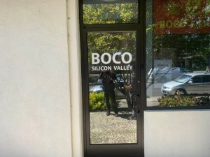 Boco window sign