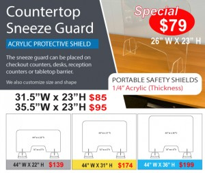 Covin-19 Sneeze Guard QuickData