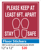 Covin-19 Foot Sticker QuickData